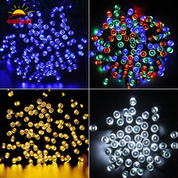 Oobest 20M 64 Ft 200 LEDs String Light LED Christmas Tree Fairy Colorful String Party Lights