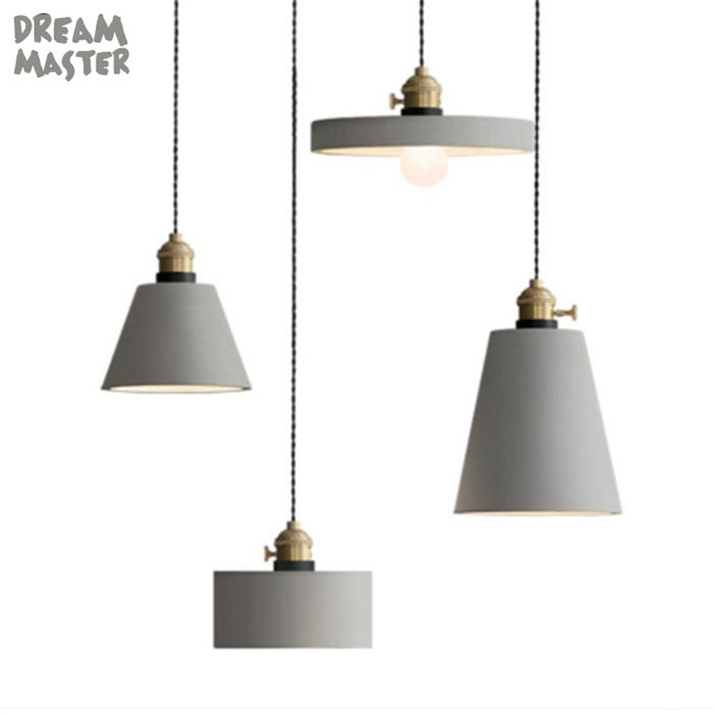Loft Cement Chandelier Light Industrial Style hanging lights ...