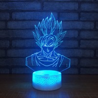 Seven Dragon Ball Goku Vision 3D Table lamp LED Night Light Colorful Acrylic Touch Base Lighting