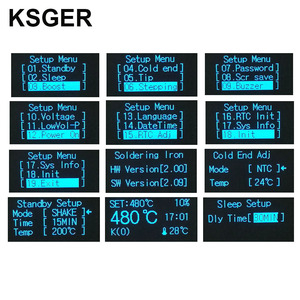 Image 3 - KSGER T12 OLED Soldering Station T12 Iron Tips STM32 DIY Assembled Kits ABS Plastic FX9501 Handle Electric Tools Welding Heating