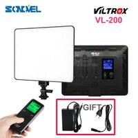VILTROX VL-200 Pro Sans Fil À Distance Photographie Caméra Vidéo Studio LED Lumière Bi-Couleur Dimmable + DC Power Adapter pour Canon Nikon