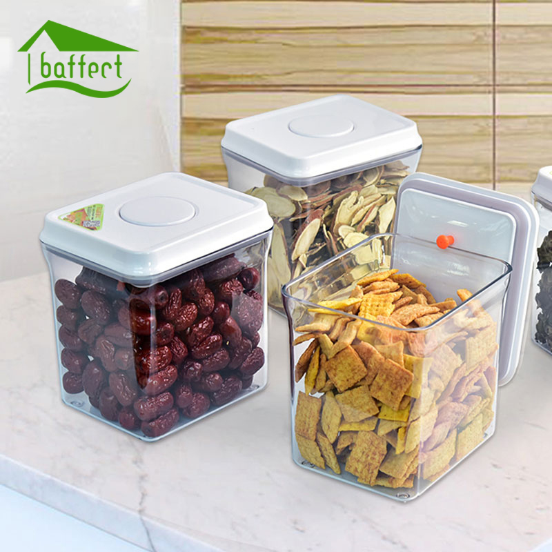 Food Storage Bottles Glass Jar Sealed Cans with Bamboo Cover Large Capacity Tampion Cereals Glass Bottle Tea Box