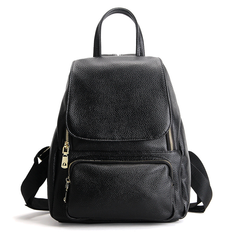 Fashion Genuine Leather Backpack Women Bags Preppy Style Backpack Girls School Bags Cover Kanken Leather Backpack nawo fashion genuine leather backpack rivet women bags preppy style backpack girls school bags zipper large women s backpack sac