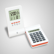 New Arrival LED Digital Home Alarm Clock Multi Functional Clock LED CalendarThermometer Display Clock with Calculator