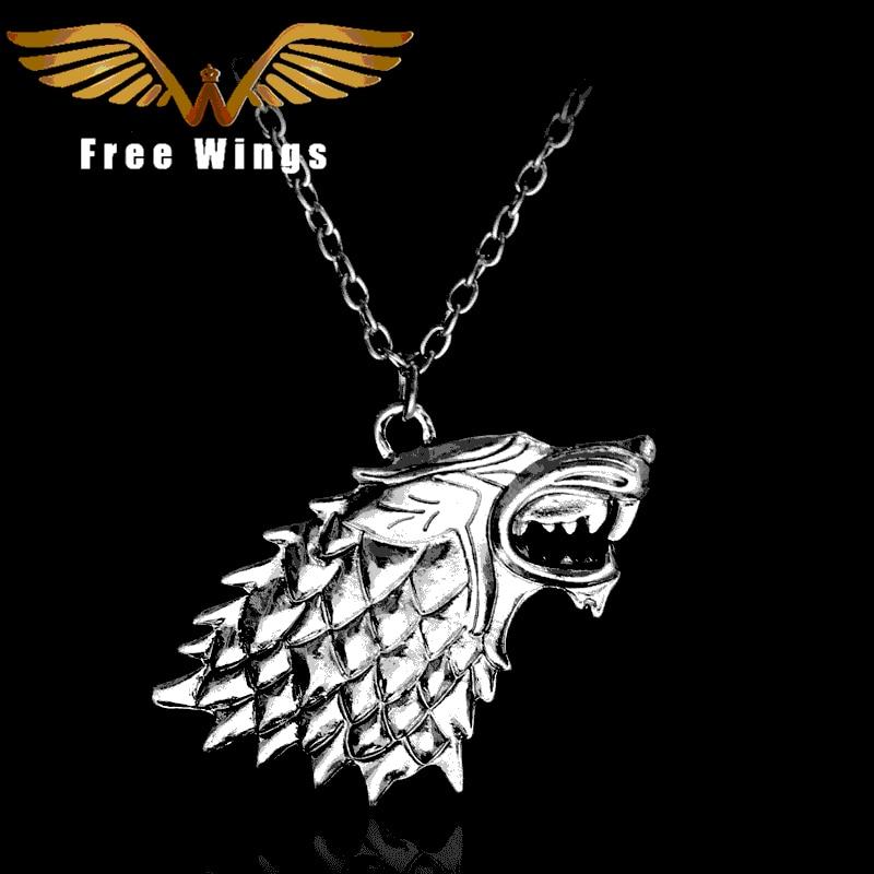 Movie necklace 3D wolf head pendant 1D33