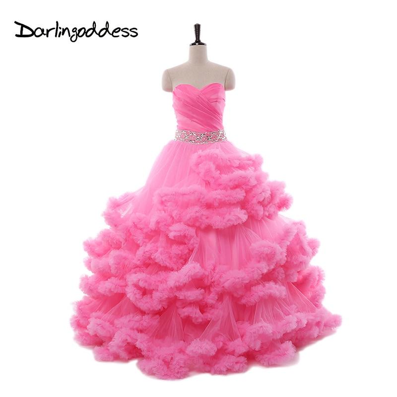 Роскошные принцесса розовый Свадебные платья облако 2017 красное для беременных Для женщин пикантные свадебные платья фотографии платье