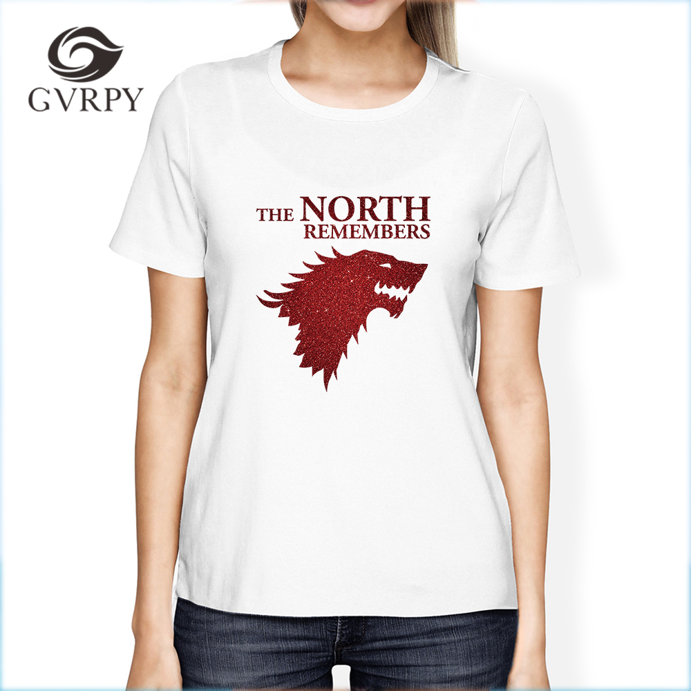 04df5cf21cb0 the North Remembers Game of Thrones Printing Female T-shirts Casual Soft  Modal t shirts