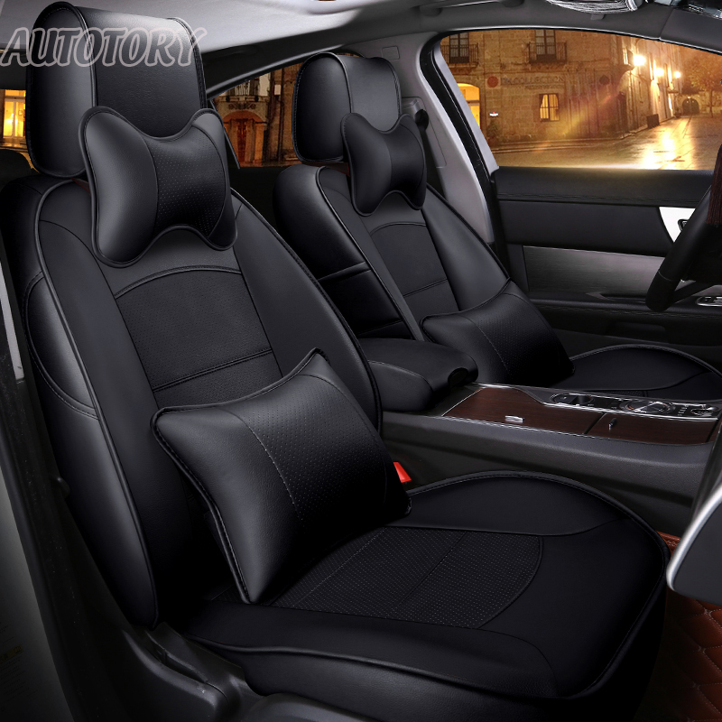 Autotory Exact Fit Cowhide Leather Automobiles Cover Seats for Nissan Fuga 250XV 2007 Seat Covers Support Front & Rear Complete