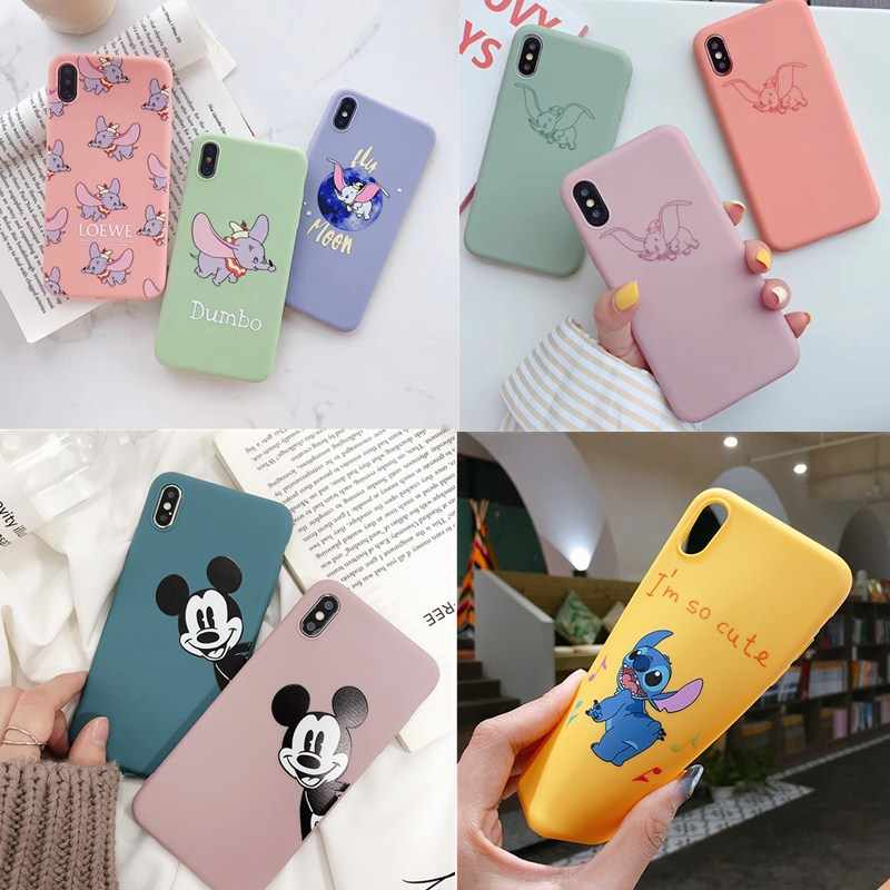 Case Voor Carcasa iphone 7 Silicona Mickey Cartoon Stitch Soft Protector Cover Voor iphone x xs max xr 6 6s 7 8 plus