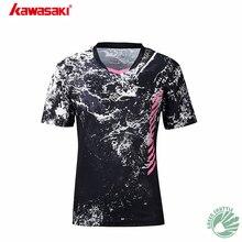 Новинка, Kawasaki, летняя рубашка для бадминтона, притягивает проницаемость пота, чтобы быть хорошей парной одеждой, St-S1104