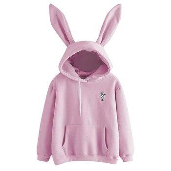 Bunny Girl Hoodie Casual Cute Sweatshirt