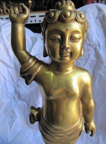 pure brass tibet buddhism baby buddha sakyamuni statue  Retro bronze factory outlets  free shippingpure brass tibet buddhism baby buddha sakyamuni statue  Retro bronze factory outlets  free shipping