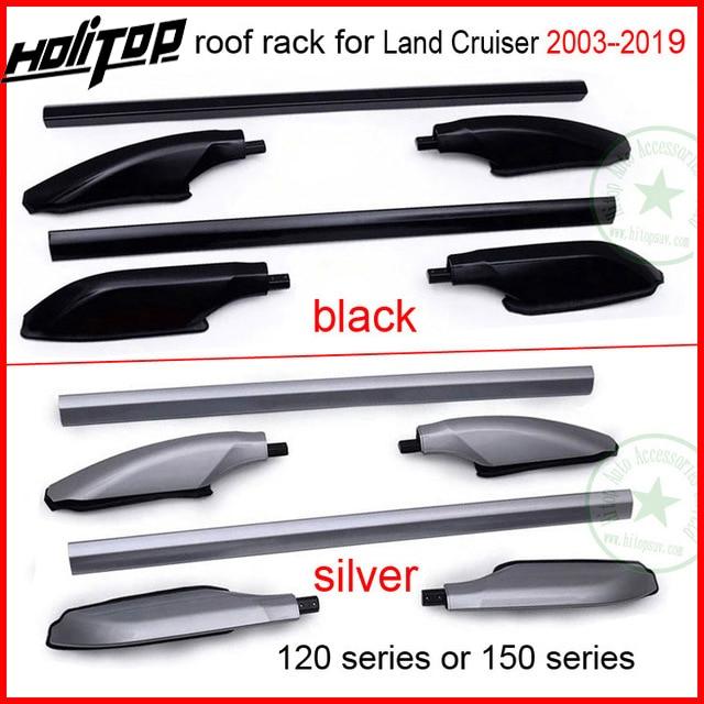 Dak Bar Rail Imperiaal Voor Toyota Land Cruiser 120 Of 150 Serie Fj120 150 Lc120 150 Kzj120 Uzj120 Trj120 Lj120, Zilver Of Zwart Vloeiende Circulatie En Pijn Stoppen