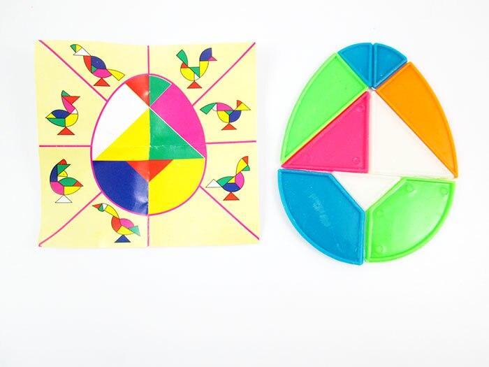Красочные Tangram Детей психического развития девять частей головоломка головоломки, развивающие Игрушечные лошадки для детей интеллектуаль...