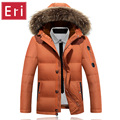 New Winter Casual Duck Down Jackets Zipper Thicken Coat With Fur Collar Men's Down Jackets and Warm Snow Brand Overcoat 3XL X428