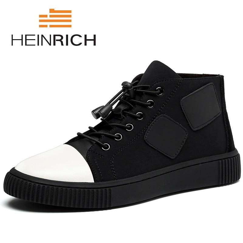 HEINRICH nouvelle marque été hommes baskets Beathable haut-haut mâle chaussures décontractées Top marque Matsukichi chaussures Chaussure Sport Homme