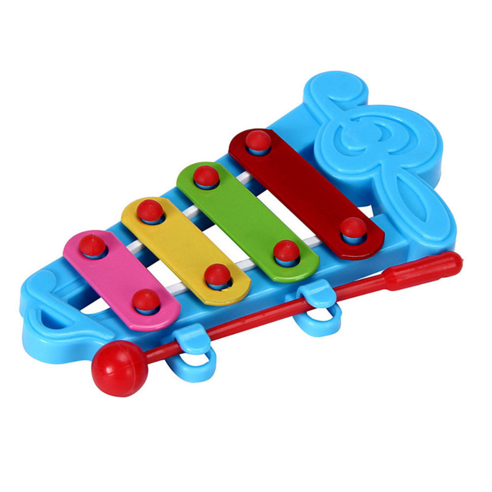 Toy Musical Instrument Baby Kid 4-Note Xylophone Toys Wisdom Development Notes hand knock piano brain game Percussion good gift
