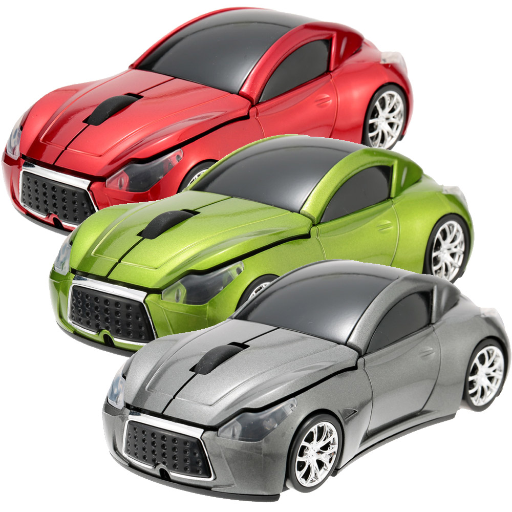2.4GHz Wireless Mouse Mice Racing Car Shaped Optical USB Wired Computer Mouse/Mice 3