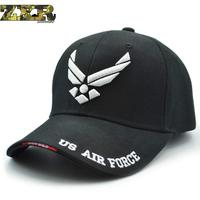 Hot Selling Men Tactical Baseball Cap Us Air Force Unisex Adjustable Street Hiphop Baseball Cap Fitted Sunscreen Female Hats
