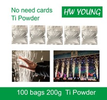 HWyoung 100bags/200g wholesale ti powder Cold Spark Fountain Firework Machine In DJ Wedding outdoor cold spark firework machine