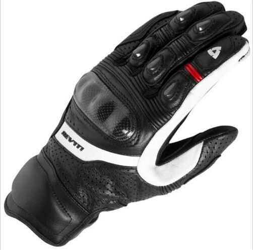 New 3 Colors 100% Genuine Leather Revit Chevron Motorcycle Short Gloves MotoGP M1 Racing Team Gloves Driving Motorbike Gloves все цены