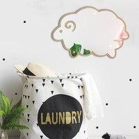 Cheap! 3D Acrylic Mirror Wall Sticker Cartoon Sheep Wood Self Adhesive Modern DIY Art Decals for Child Bedroom Home Decor Gift