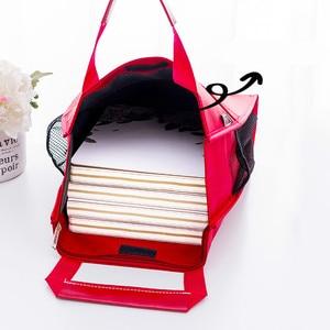 Image 2 - 4 색 휴대용 파일 가방 a4 학생 교과서 데이터 파일 포켓 다기능 방수 휴대용 office 파일 가방 캔버스 가방