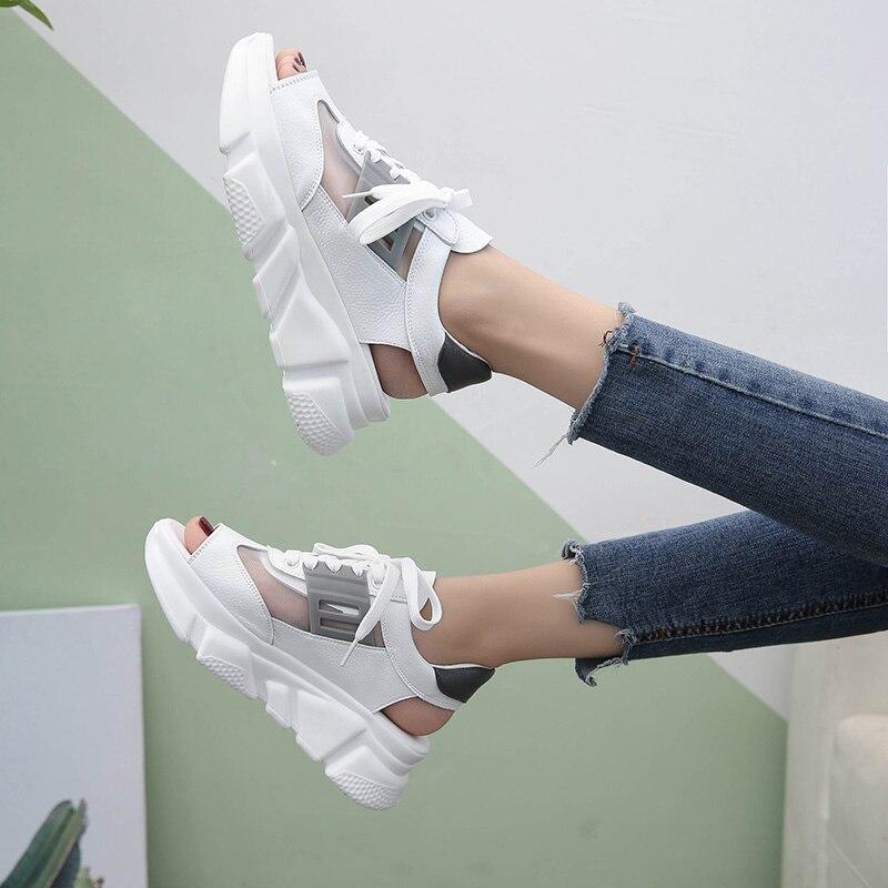 Γυναικεία Fishnet Mesh Sandals 2018 Νέα - Γυναικεία παπούτσια