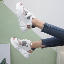 Sandali con rete a rete a rete da donna 2018 Nuove scarpe con plateau Scarpe casual Scarpe da ginnastica con piattaforma Ulzzang Scarpe piatte antiscivolo per esterni