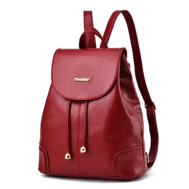 High Quality Leather Backpack Woman New Arrival Fashion Double Zipper Backbag Female Large Capacity School Bag Travel Bag