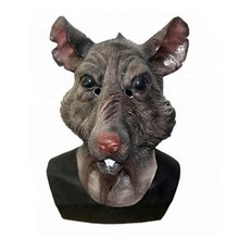Full Head Overhead Teenage Mutant Ninja Turtles Movie Character Prop Animal Latex Rat Splinter Mask цена