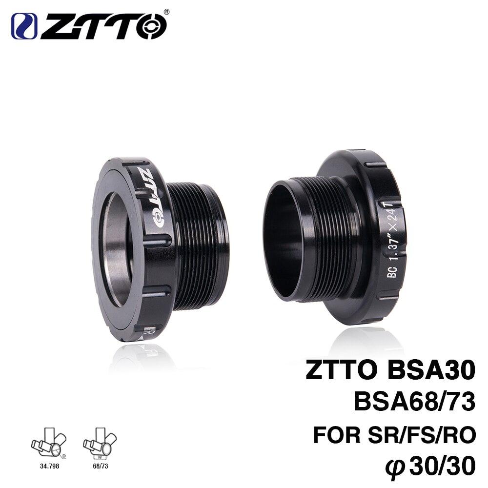 ZTTO BSA30 bottom bracket BSA68 BSA ISO 68mm 73 Mountain Bike Road bike External Bearing Bottom Brackets for BB386 30mm Crankset Bottom Brackets     - title=