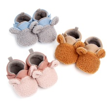 Autumn Winter Baby Shoes Coral Velvet Cartoon Baby Girl Shoes Home Fir