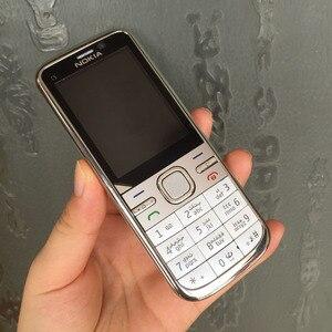 Image 2 - ตกแต่งใหม่NOKIA C5 00 โทรศัพท์มือถือปลดล็อกC5 โทรศัพท์ภาษาอังกฤษฮีบรูอาหรับรัสเซียแป้นพิมพ์ & Oneปี