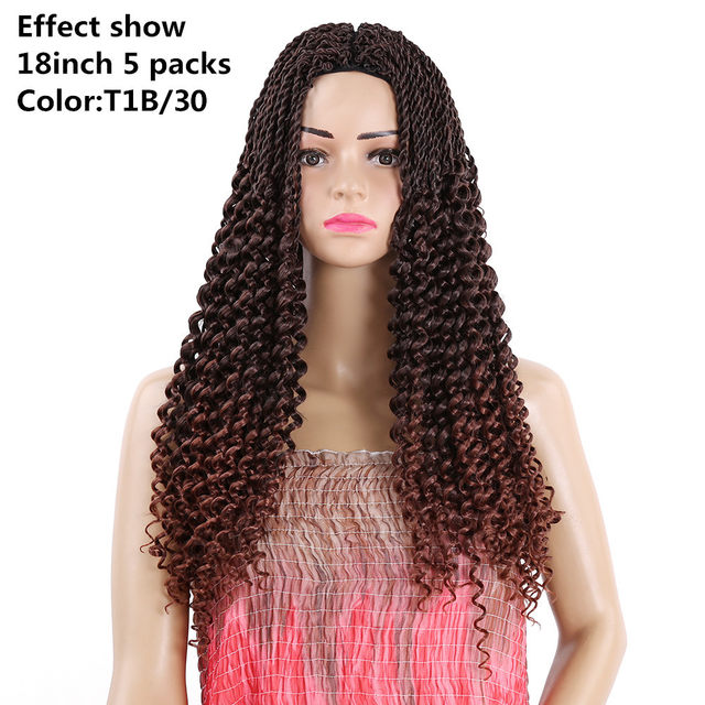 Online Shop 14 18inch Crochet Braids Synthetic Hair Extensions Curly