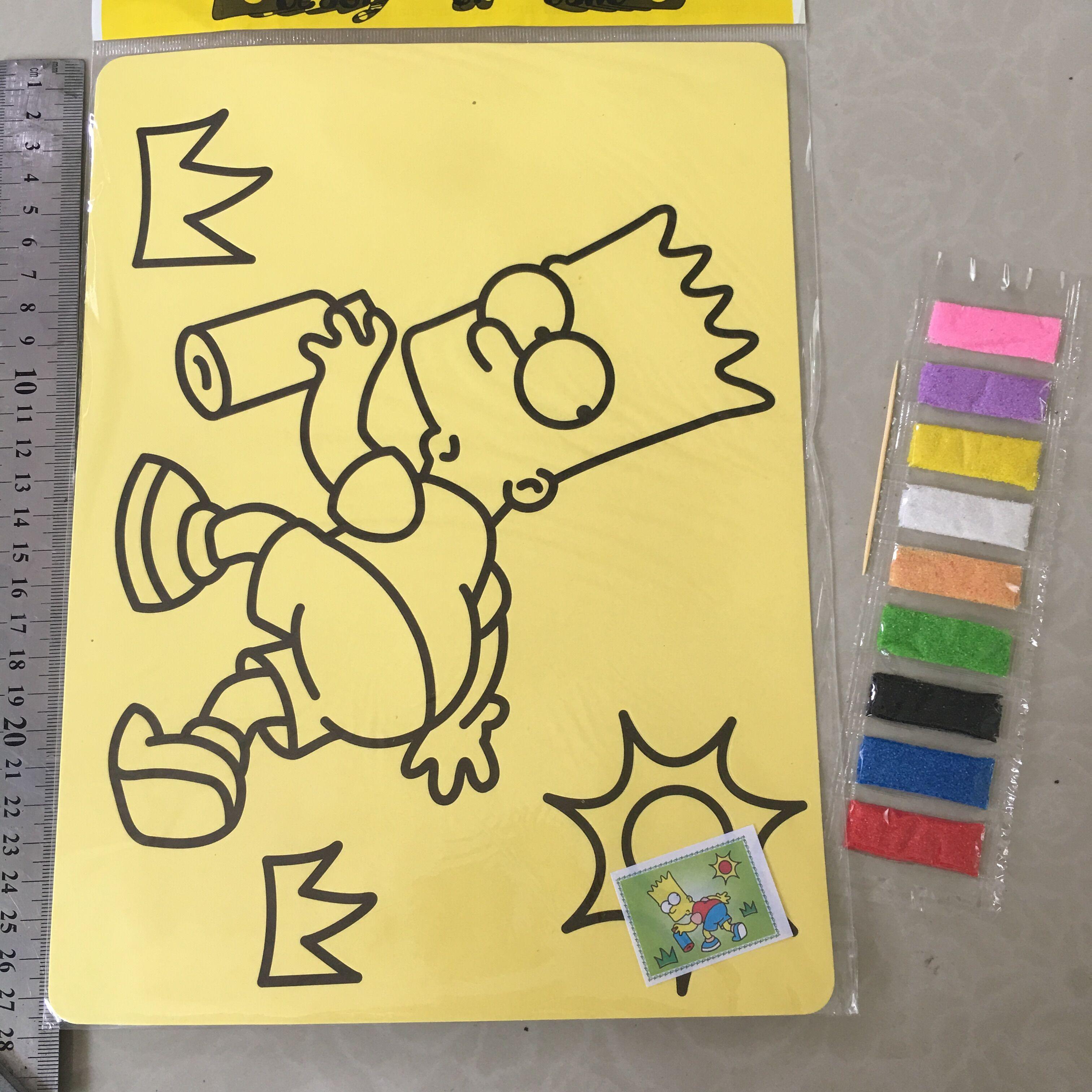 1PCS 27X21CM Children Kids Drawing Toys Sand Painting Kid