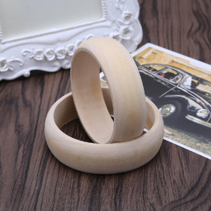 Wooden Flat Bracelet DIY Wood Bracelet Wooden Decorations Art Ornaments Drawing Painting Supply