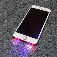 O orador quente conduziu o cabo fresco do sensor da luz do flash da noite do fulgor da luz para o iphone 6 6 mais 6s 6s mais 7 mais 8 conduziu a luz|Pacotes de acessórios para celular| |  -
