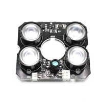 4 piezas array led infrarrojos Junta infrarroja de luz IR LED para CCTV cámaras iluminador de luz de la noche la visión 60 Cámara