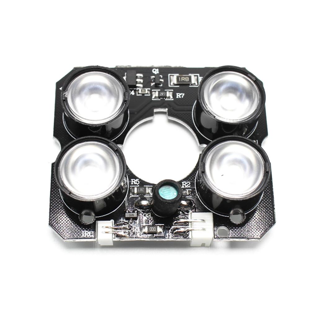 4 шт., светодиодный инфракрасная доска светильник, инфракрасная светодиодная плата для камер видеонаблюдения, осветитель s, светильник с ноч...