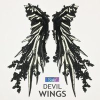 Sequins Patch Clothes DIY Angel White Black Wings Large Feathers Badge Sew On Embroidery Patches DIY