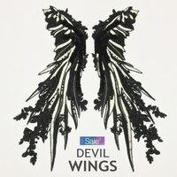 Pailletten Patch Kleidung DIY Engel Weiß Schwarz Flügel Große Federn Badge Nähen auf Stickereiflecken DIY Zubehör Hohe Qualität ZC52