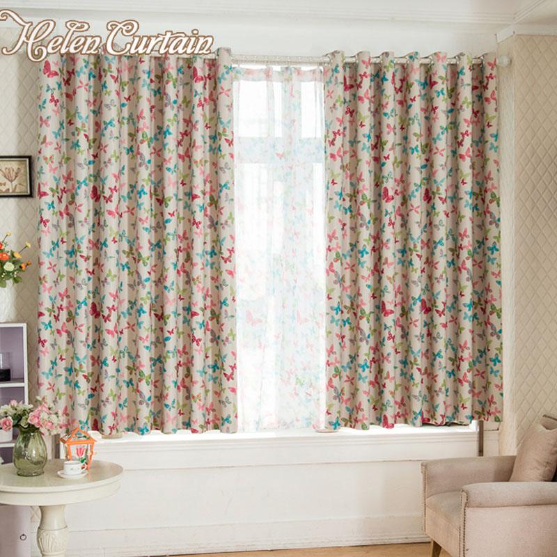 Double Sided Drapes : New blackout butterfly curtains for living room