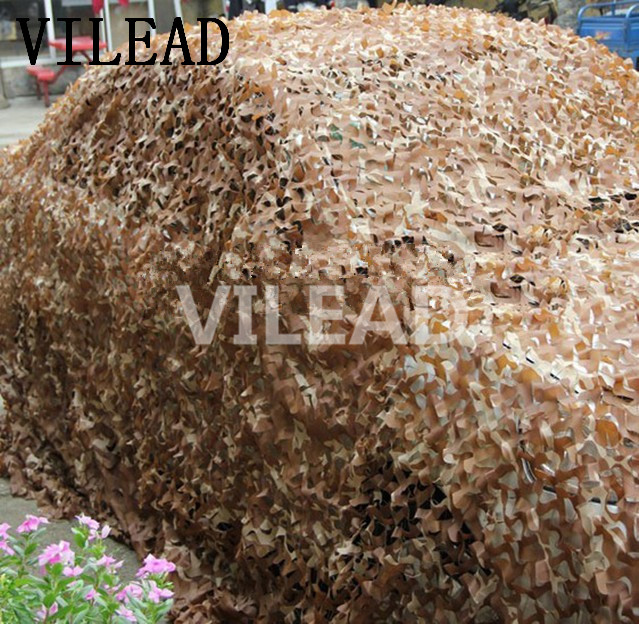 VILEAD 2M x 9M (6.5FT x 29.5FT) Desert Digital Camo Netting Military Army Camouflage Net Jungle Shelter for Hunting Camping Tent vilead 5m x 8m 16 5ft x 26ft desert military army camouflage net digital camo netting jungle sun shelter for hunting camping