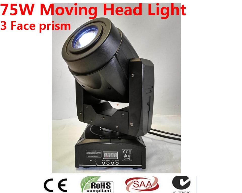 2 pz 75 W LED Spot Moving Testa Luci/DMX-controller led per il partito DMX luce della fase della discoteca ha condotto la luce