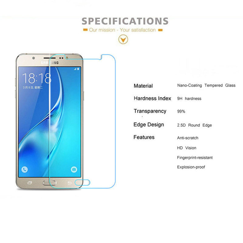 Image 2 - 9H Tempered Glass For Samsung Galaxy A3 A5 A7 2017 Screen Protector For Samsung A5 A3 A7 2016 note3 note4 note5 Protective film-in Phone Screen Protectors from Cellphones & Telecommunications