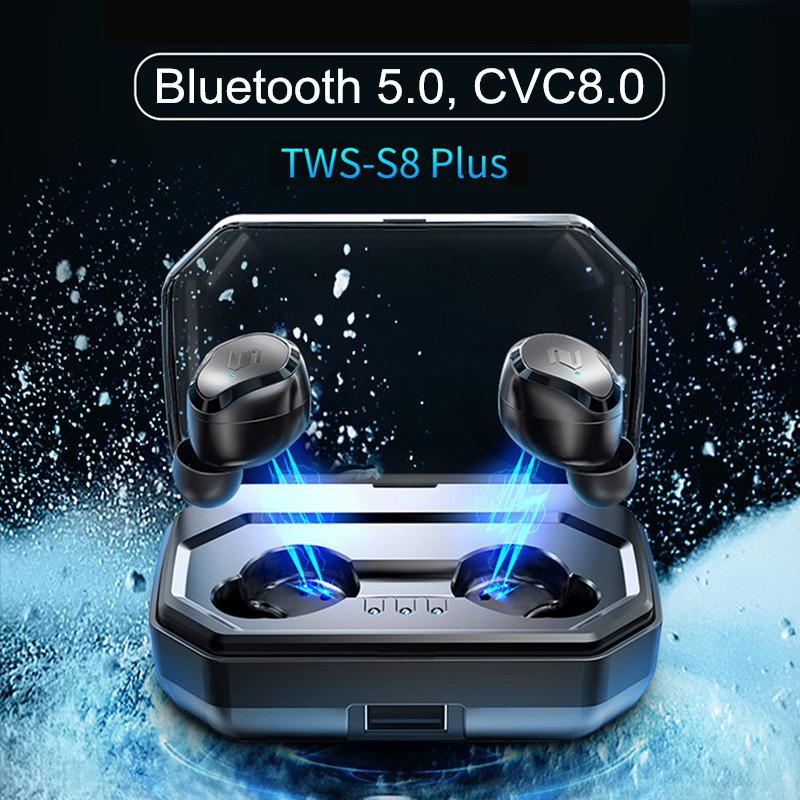 Kuulee TWS True Wireless Bluetooth 5.0 Earphone Touch Headset Noise Cancelling 3000mAh Power Bank for Smart Phone