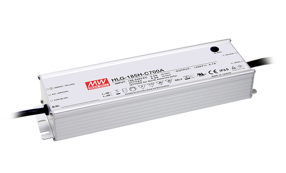 [Sumger2] MEAN WELL original HLG-185H-C700A 143V ~ 286V 700mA meanwell HLG-185H-C 200.2W LED Driver Power Supply A Type itap 143 2 редуктор давления