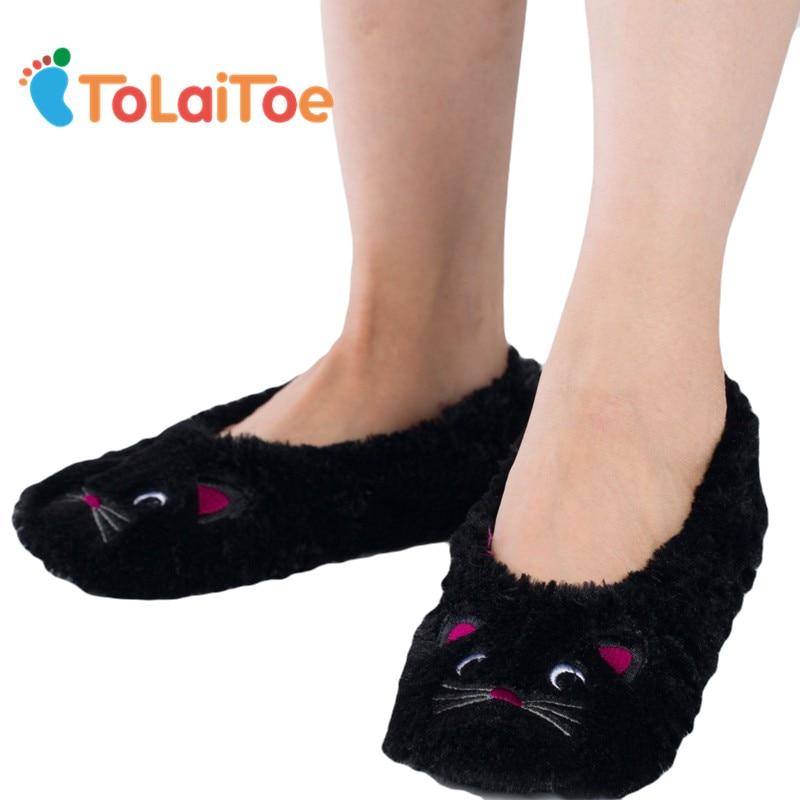 ToLaiToe último estilo de invierno lindo bordado de dibujos animados - Zapatos de mujer