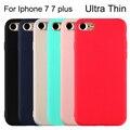 Оригинальный Телефон Case для iPhone 7 Случаи Candy Цвет Силикона TPU Ультра Тонкий моды Роскошь Чехол Для iPhone 6 6 s 5 5S SE 7 7 Плюс